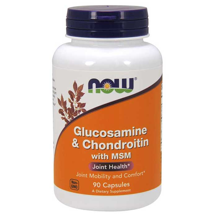 Image of NOW Foods Glucosamine & Chondritin with MSM 90 Caps