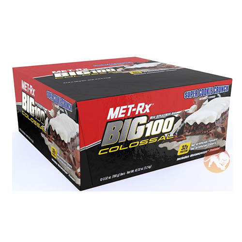 Image of Met-RX Big 100 Colossal Bars 9 Bars Peanut Butter Caramel
