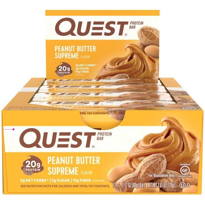 Quest Bars 12 Bars Peanut Butter Supreme