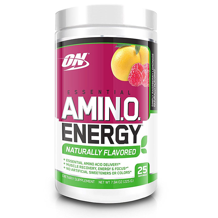 Amino Energy Naturally Flavoured 25 Servings Simply Raspberry Lemonade