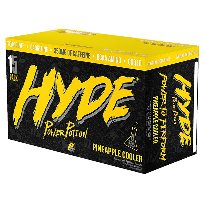 Image of Prosupps Hyde Power Potion 15 Cans Pineapple Cooler