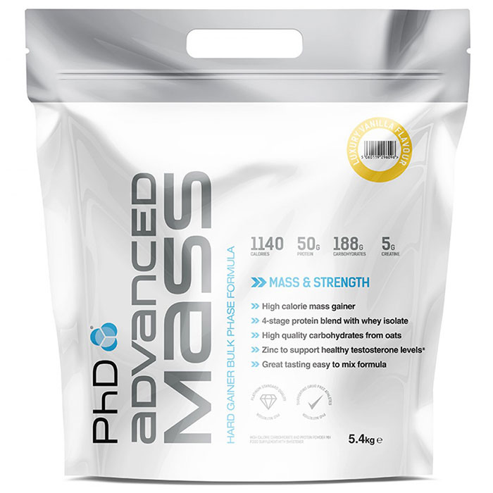 Image of PHD Nutrition Advanced Mass 5.4kg - Luxury Vanilla