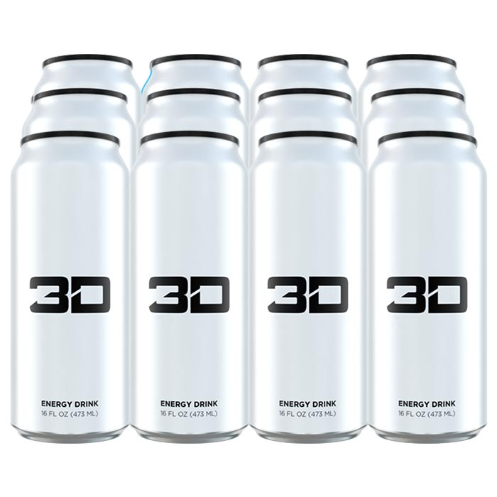 Image of 3D Energy 3D Energy Drink 12 Cans White