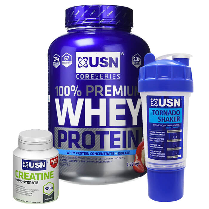 Image of USN Whey Protein Premium 2.2kg Cookies and Cream