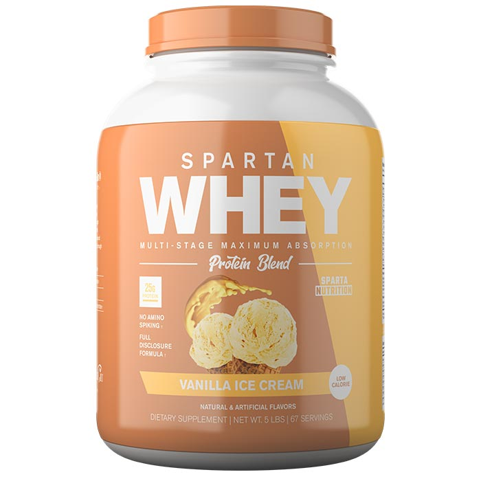 Image of Sparta Nutrition Spartan Whey 5lb Vanilla Ice Cream