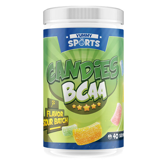 Image of Yummy Sports Candies BCAA 40 Servings Cherry Blast