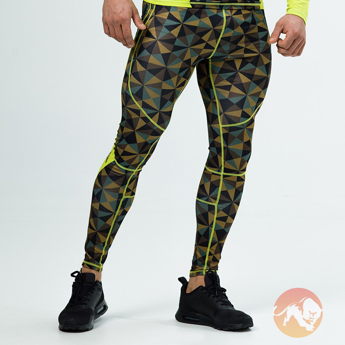 Image of Aesthetix Era Compression Pants Camo Small