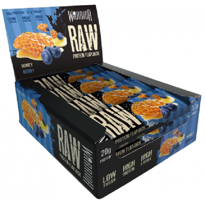 Image of Warrior Warrior Raw Protein Flapjacks 12 Pack Honey Berry