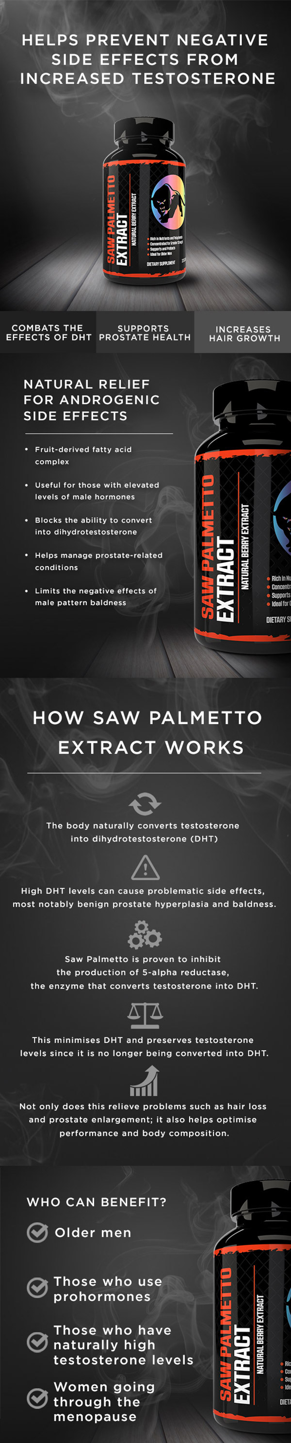 Predator Nutrition Saw Palmetto Extract Infographic