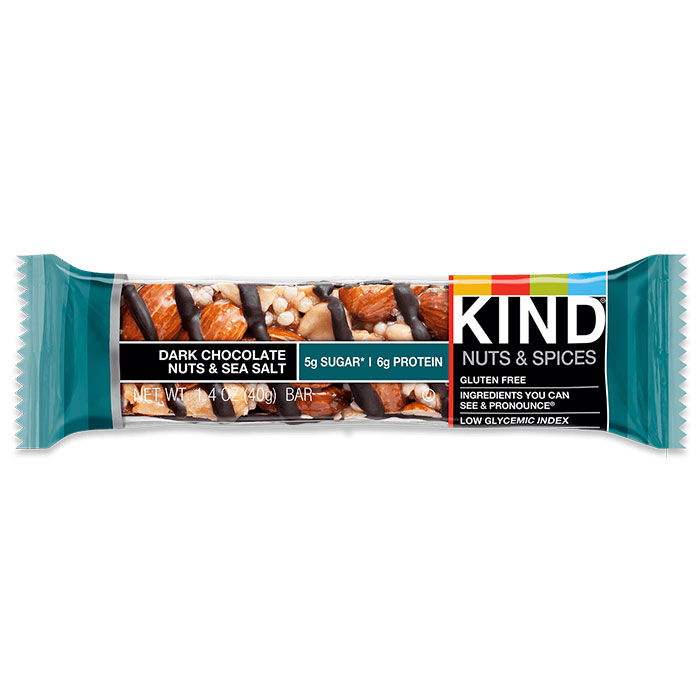 Kind Bars Nuts and Spices 1 Bar Dark Chocolate Nuts and Sea Salt