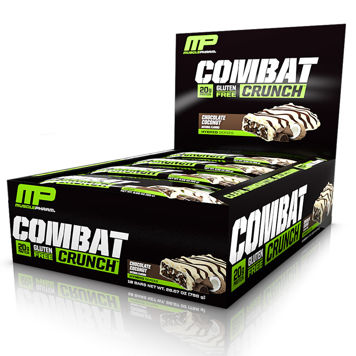 Image of MusclePharm Combat Crunch Bars 6 Bars Chocolate Brownie