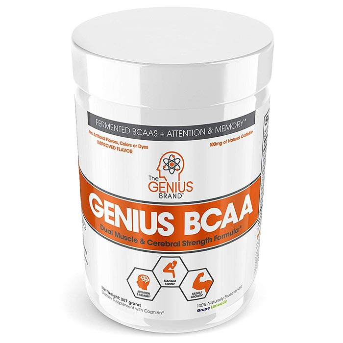 Image of The Genius Brand Genius BCAA 21 Servings Grape Limeade