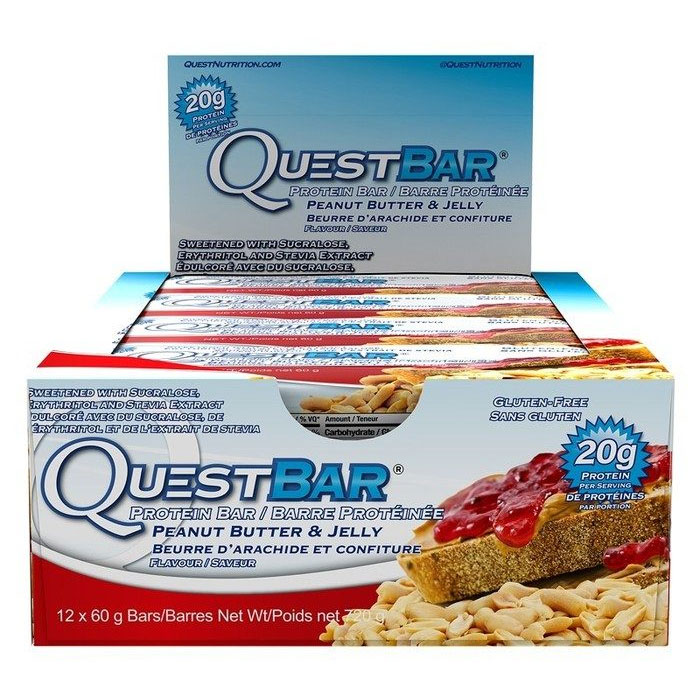 Quest Bars 12 Bars Peanut Butter & Jelly