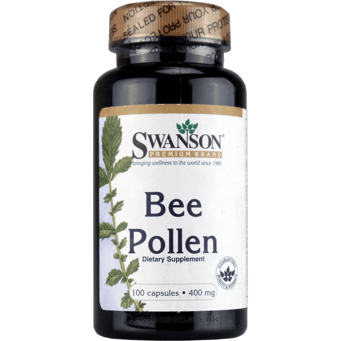 Image of SWANSON Bee Pollen 400mg 100 Capsules