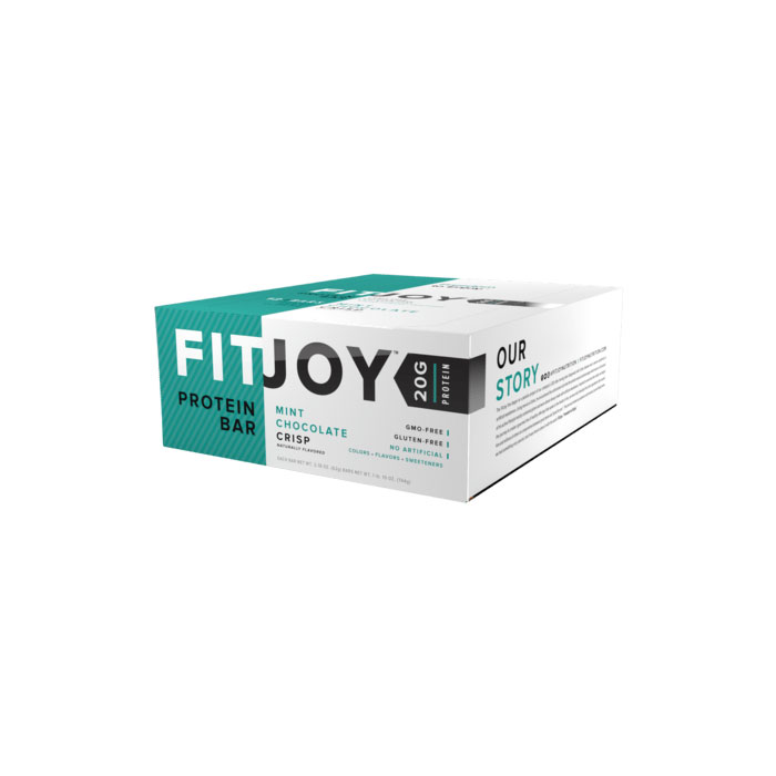 Image of Fitjoy Fitjoy Bars 12 Bars Mint Chocolate Crisp
