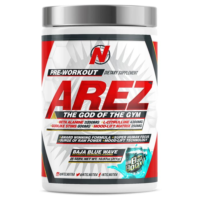 Image of NTEL Nutra Arez 25 Servings Baja Blue Wave