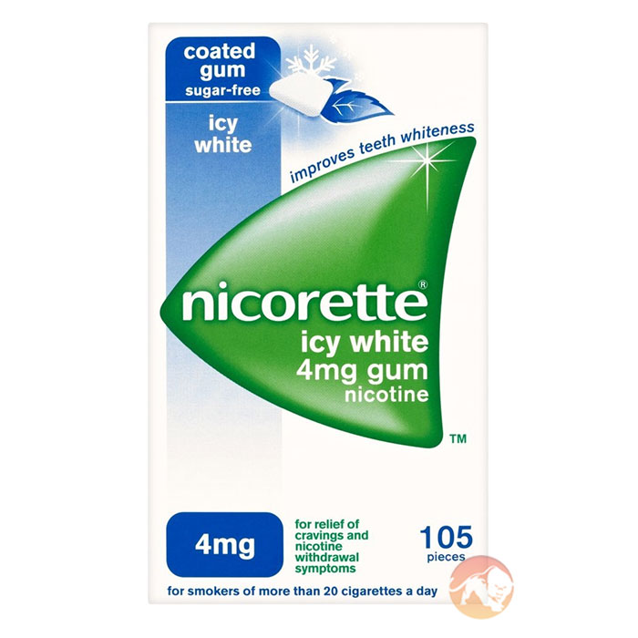 Image of Nicorette Nicorette Icy White 4mg 105 Pieces