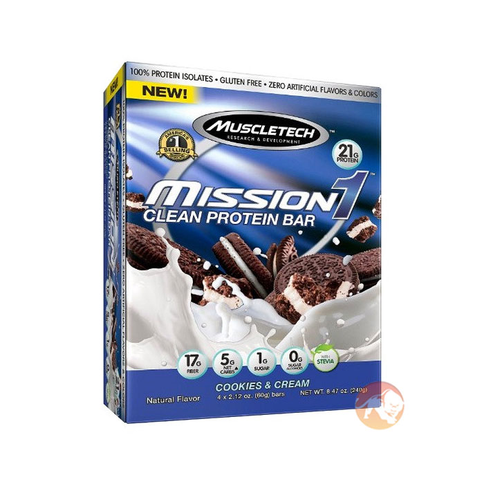 Mission 1 Bar 4 Bars Cookies and Cream