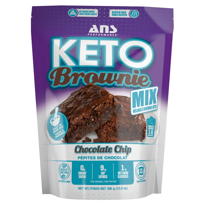 Image of ANS Performance Keto Brownie Mix 395g Chocolate Chip