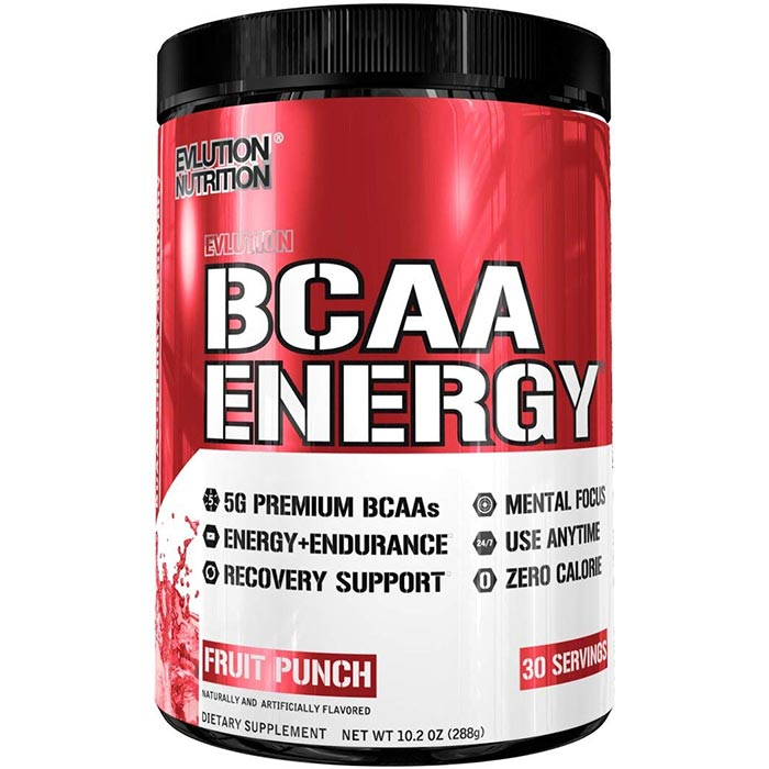 Image of Evlution Nutrition BCAA Energy 30 Servings Fruit Punch