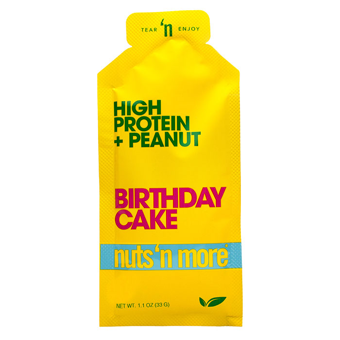 Nuts N More High Protein Peanut Butter 1 Pack Birthday Cake