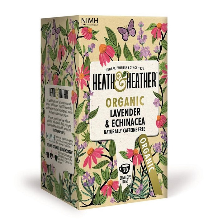 Image of Heath And Heather Organic Lavender & Echinacea 20 Bags