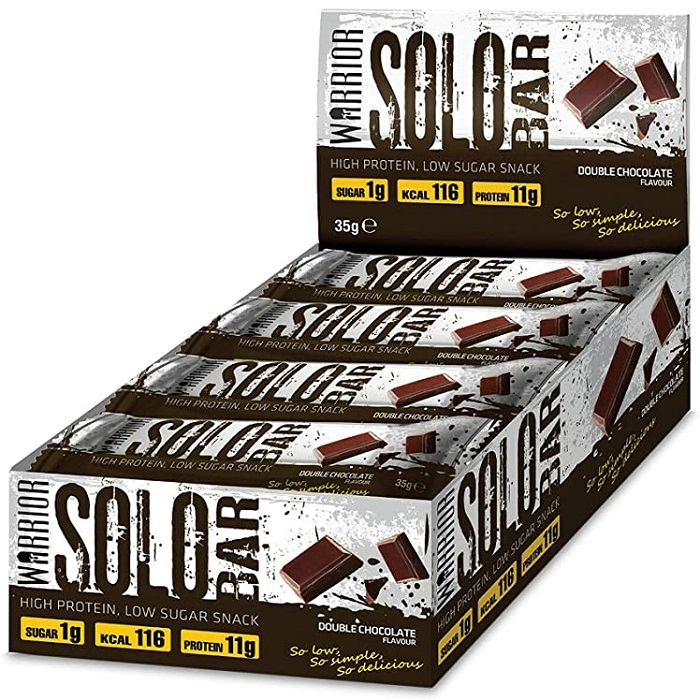 Image of Warrior Warrior Solo Bars 12 Pack Double Chocolate