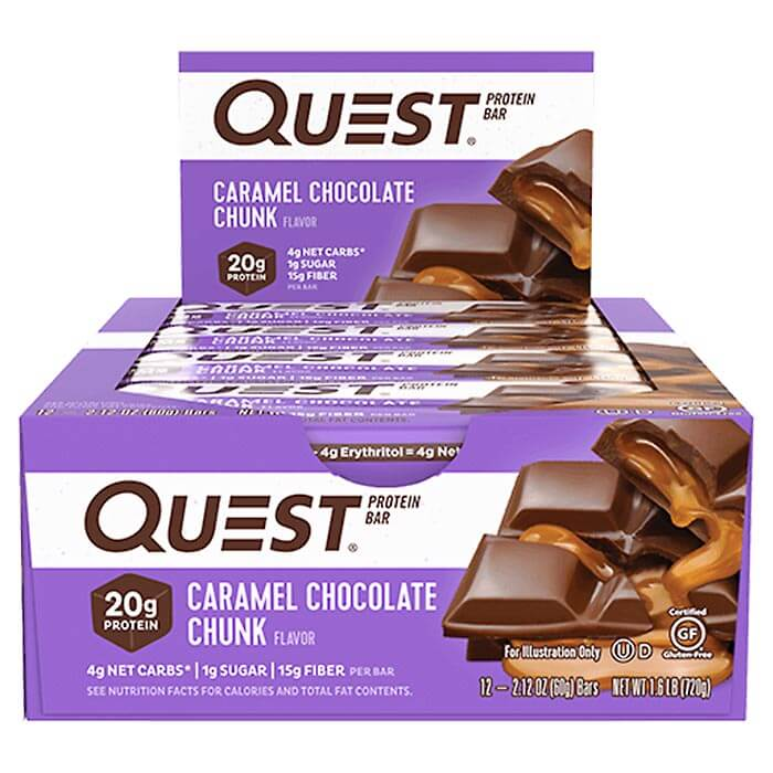 Image of Quest Nutrition Quest Bars 12 Bars Caramel Chocolate Chunk