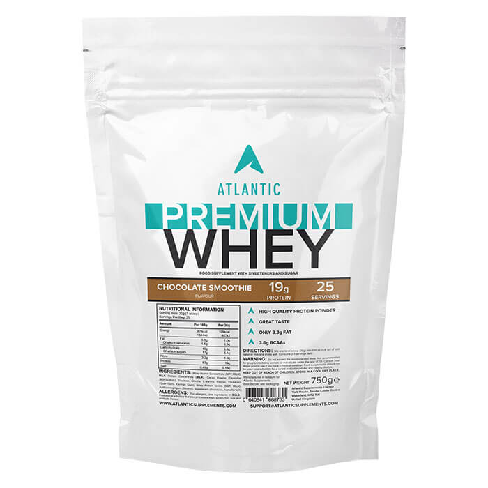 Image of Atlantic Supplements Atlantic Premium Whey 750g Chocolate