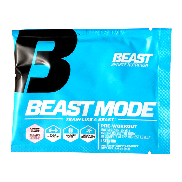 Image of Beast Sports Nutrition Beast Mode Trial Serving Candy Blast