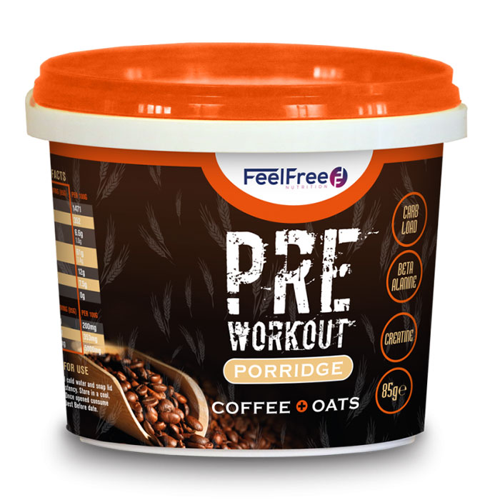 Image of Feel Free Nutrition Protein Porridge Pre-Workout 16 x 100g Coffee