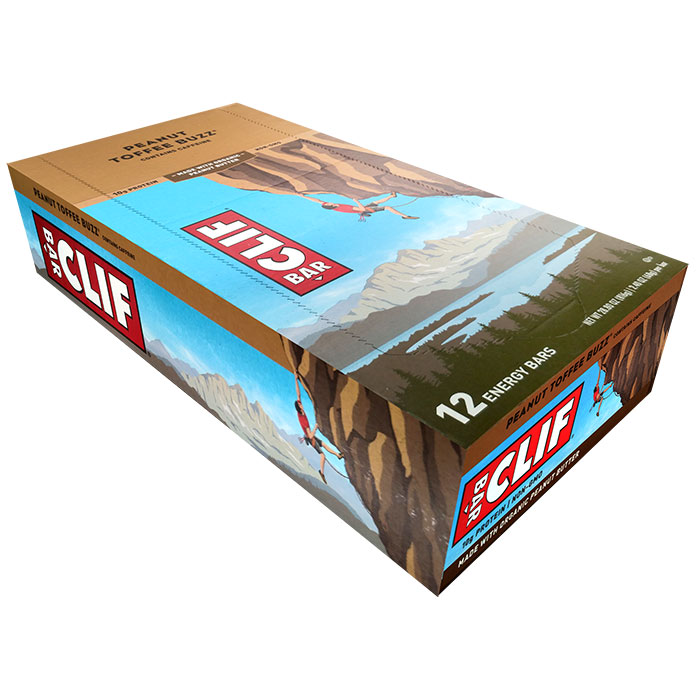 Image of Clif Bar Clif Bar 12 Bars Peanut Toffee Buzz
