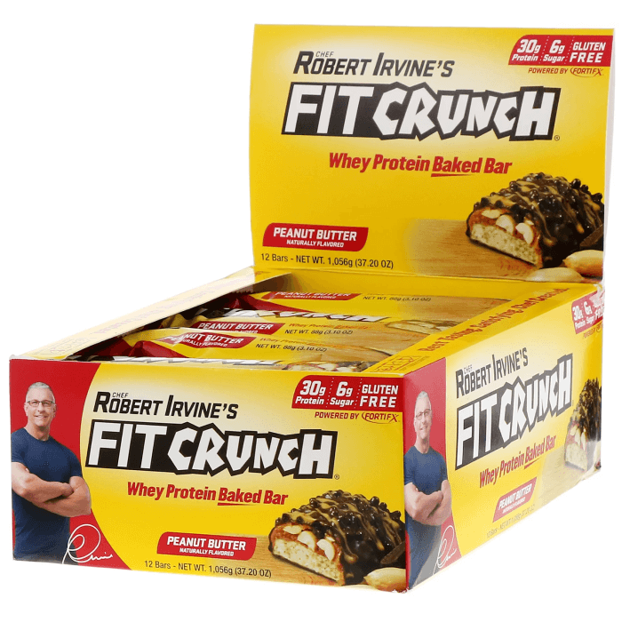 Image of Chef Robert Irvine Fit Crunch Bars 12 x 88g Peanut Butter and Jelly