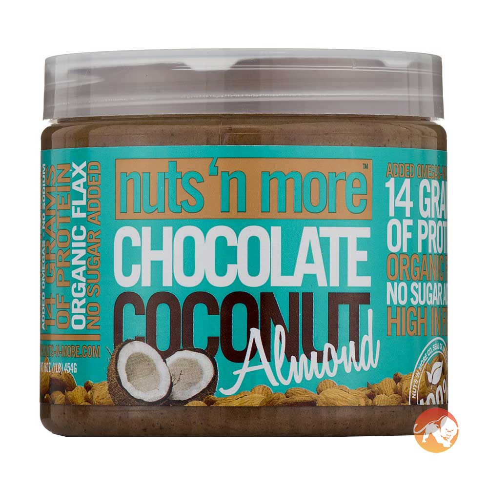 Image of Nuts'n more Chocolate Coconut Almond Butter 454g