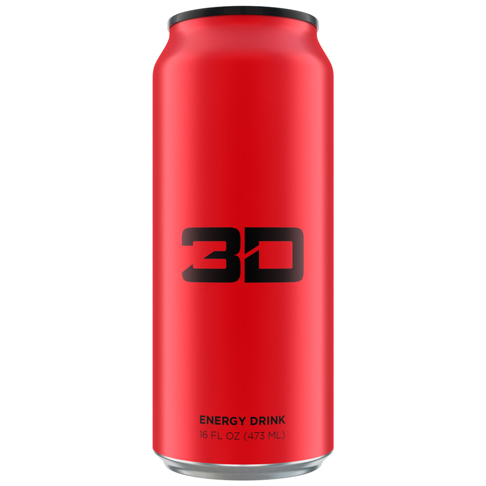 Image of 3D Energy 3D Energy Drink 1 Can Red