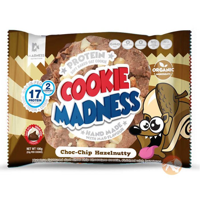 Image of Madness Nutrition Cookie Madness 12 Cookies Choc Chip Hazelnutty