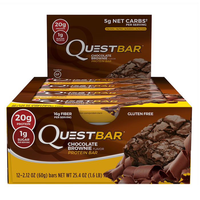 Image of Quest Nutrition Quest Bars 12 Bars - Chocolate Brownie
