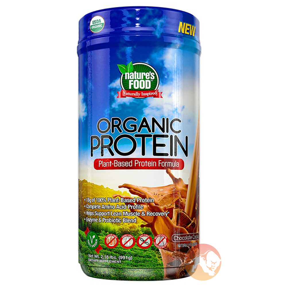 Image of Nature's Food Organic Protein 991g Chocolate Cocoa
