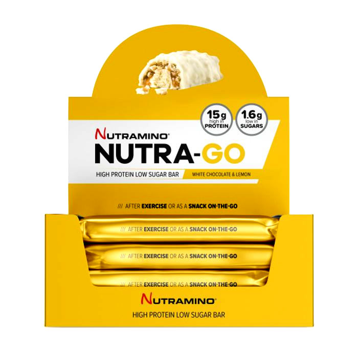 Image of Nutramino Nutra-Go Protein Bar 12 Bars White Chocolate & Lemon